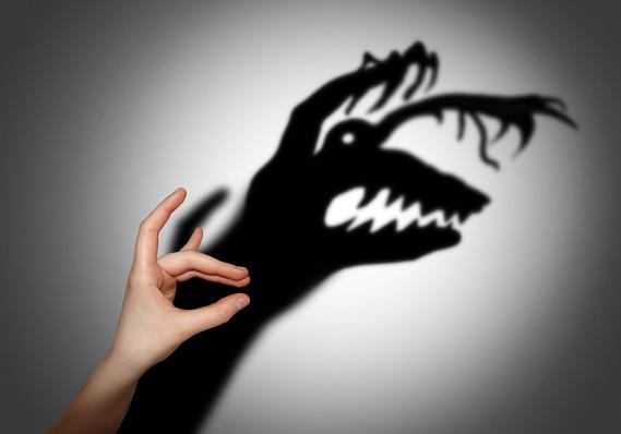 fear finger puppet